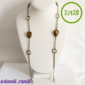Chain Glasses Holder Teardrop Cabochon Accents